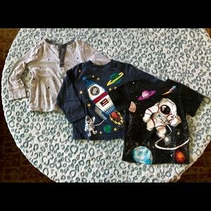 Bundle of toddler space shirts